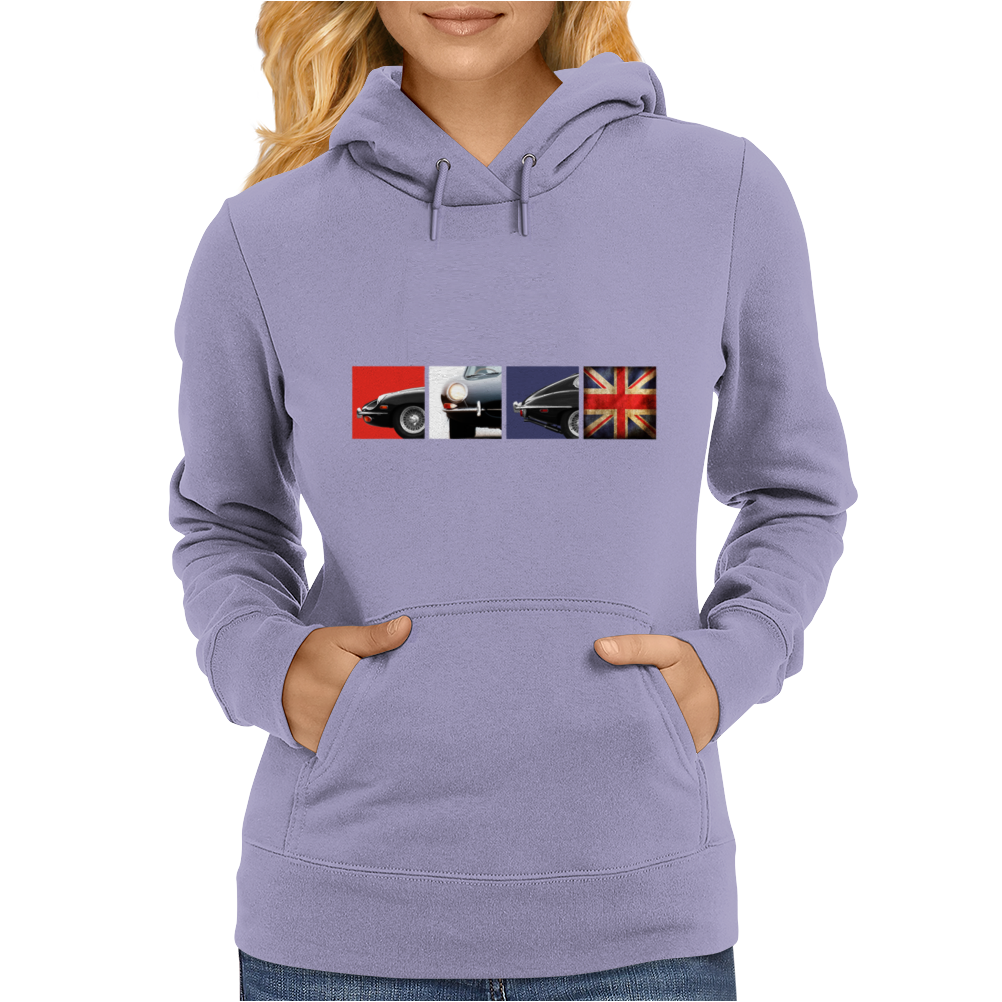British Icon - The E-Type Womens Hoodie
