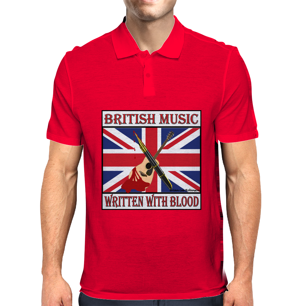 British Music- Written With Blood Mens Polo
