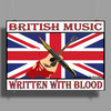 British Music Written With Blood Poster Print (Landscape)
