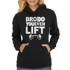 BRO Do You Even Lift Baseball Raglan Womens Hoodie