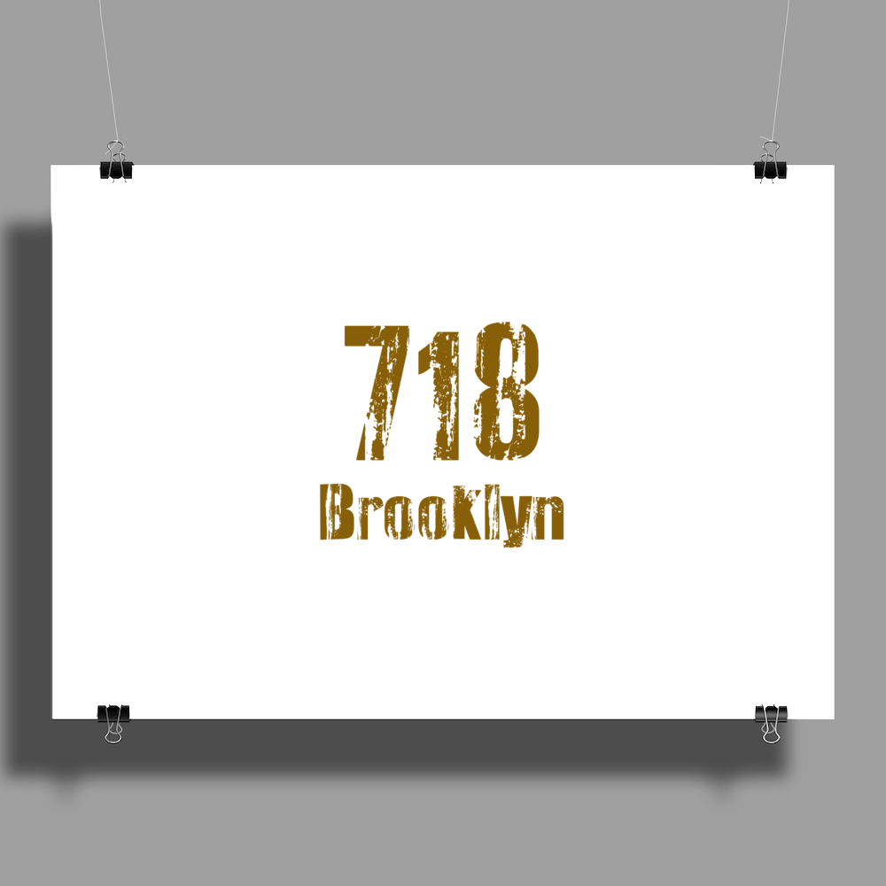 Brooklyn, NY USA  area code 718 Poster Print (Landscape)