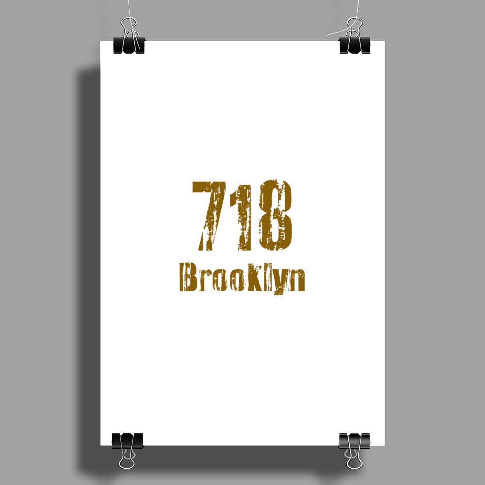 Brooklyn, NY USA  area code 718 Poster Print (Portrait)