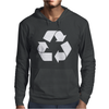 Brown Ink Recycle Mens Hoodie