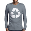 Brown Ink Recycle Mens Long Sleeve T-Shirt