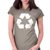 Brown Ink Recycle Womens Fitted T-Shirt