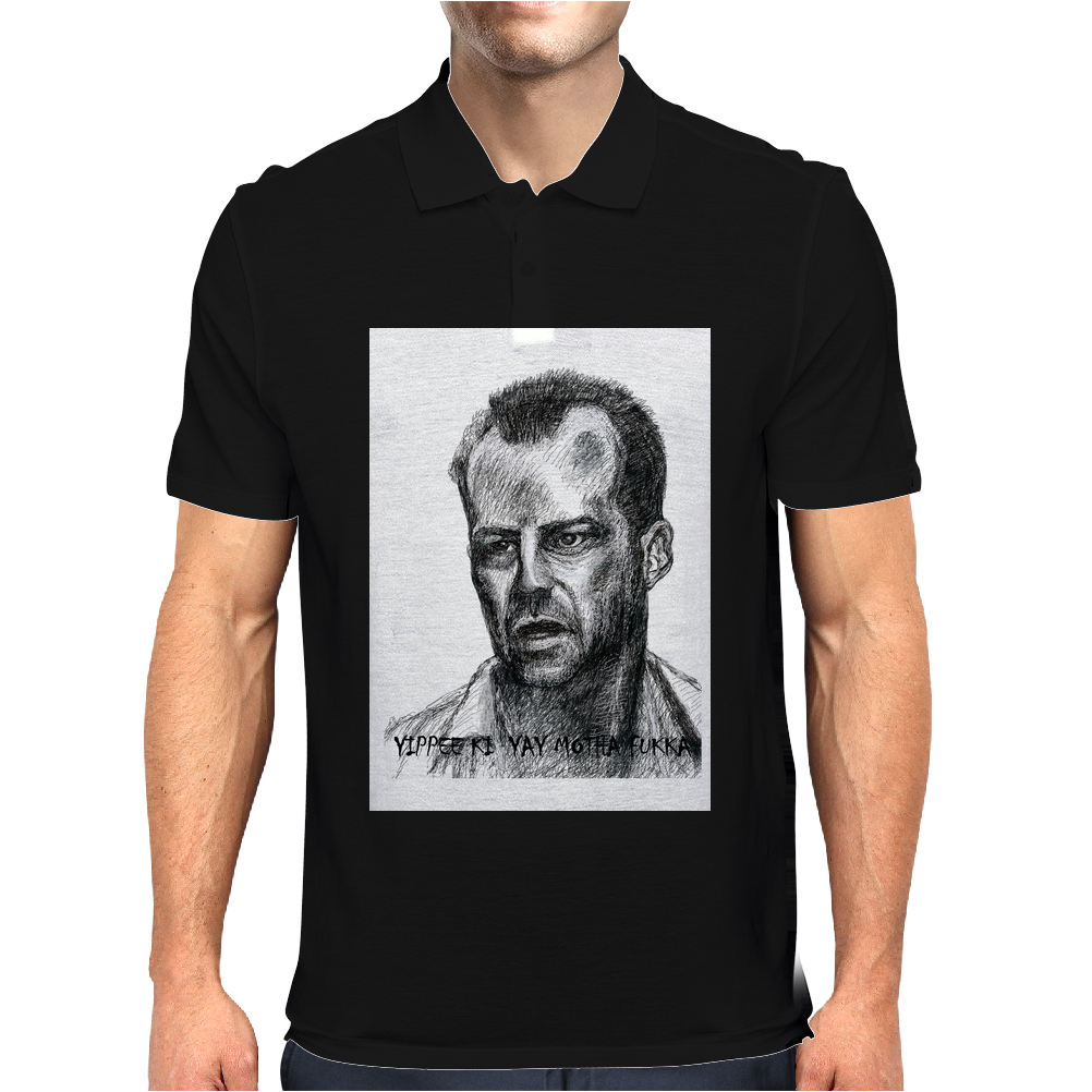 Bruce Willis  Illustration Mens Polo