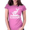 Buck Wear Food Poops Womens Fitted T-Shirt