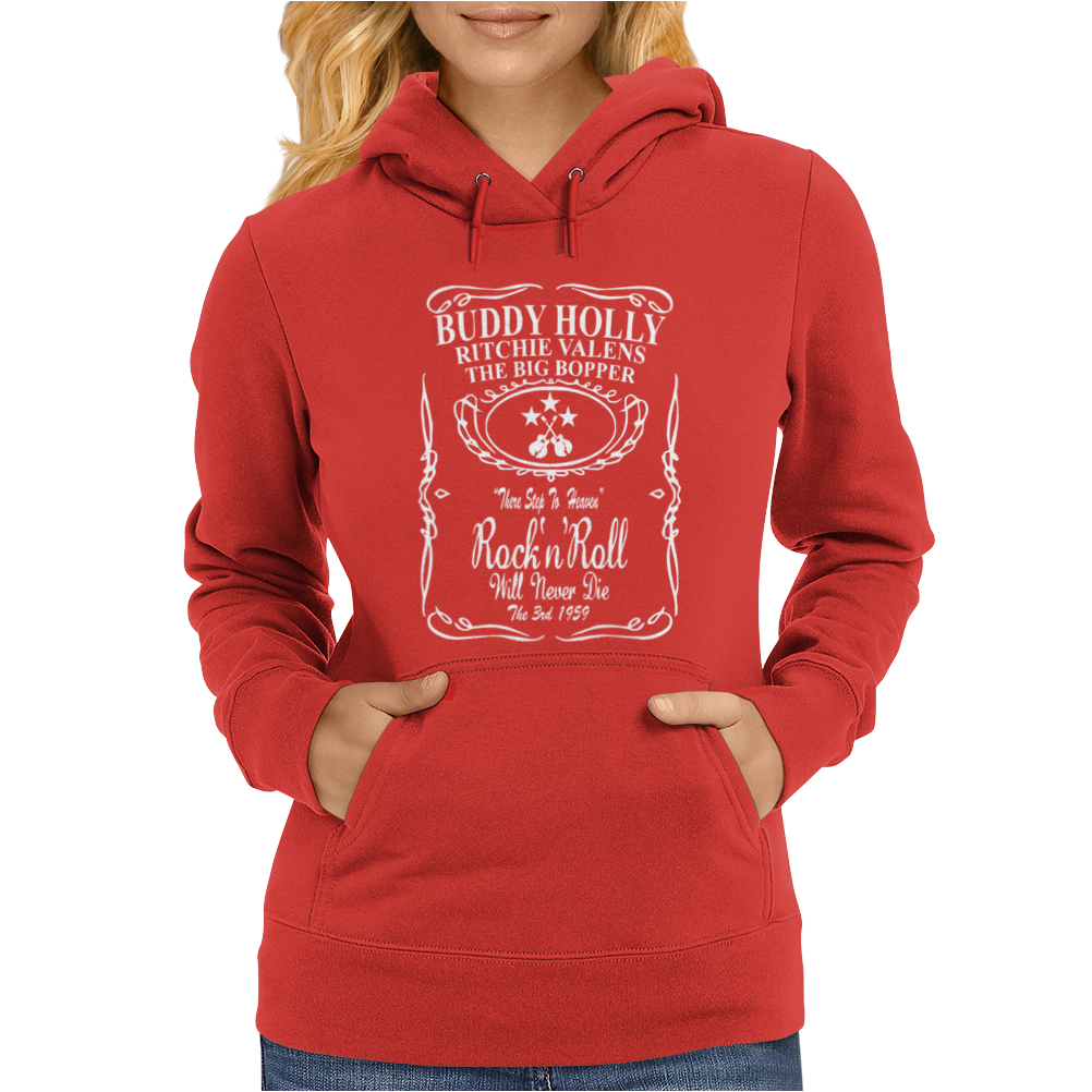 Buddy Holly Richie Valens Big Bopper Womens Hoodie