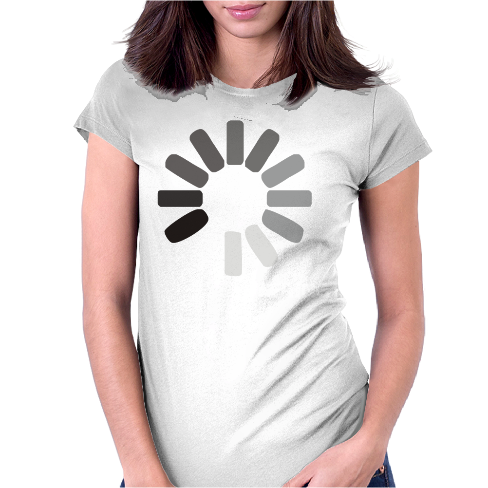Buffering  Funny retro loading computer console fashion party Womens Fitted T-Shirt