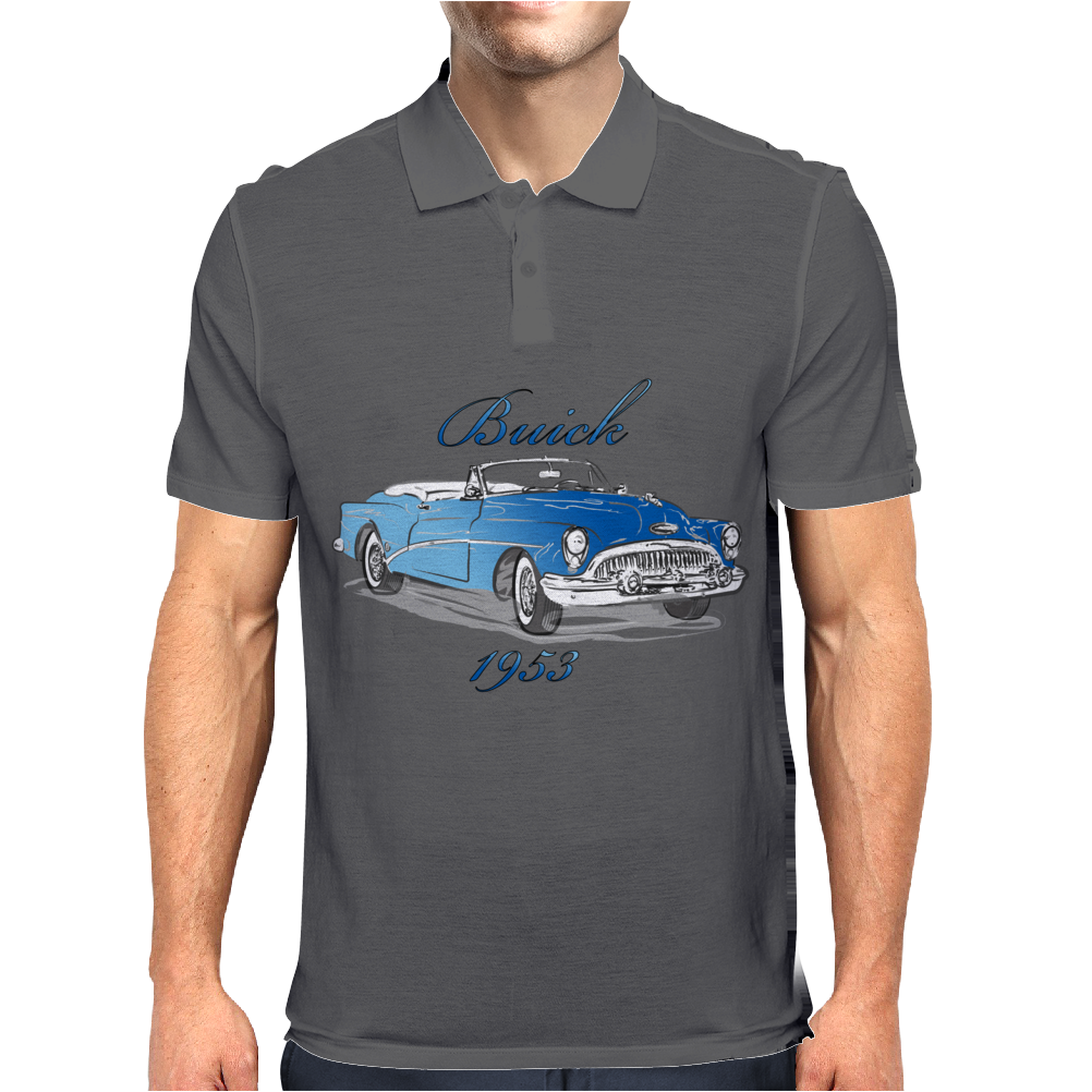 buick 1953 vintage color Mens Polo