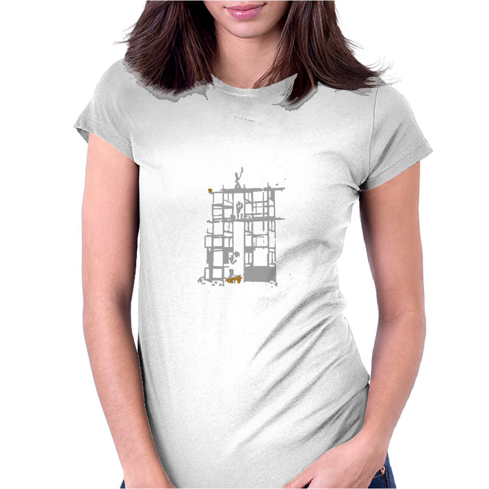 Building a Cloud Womens Fitted T-Shirt