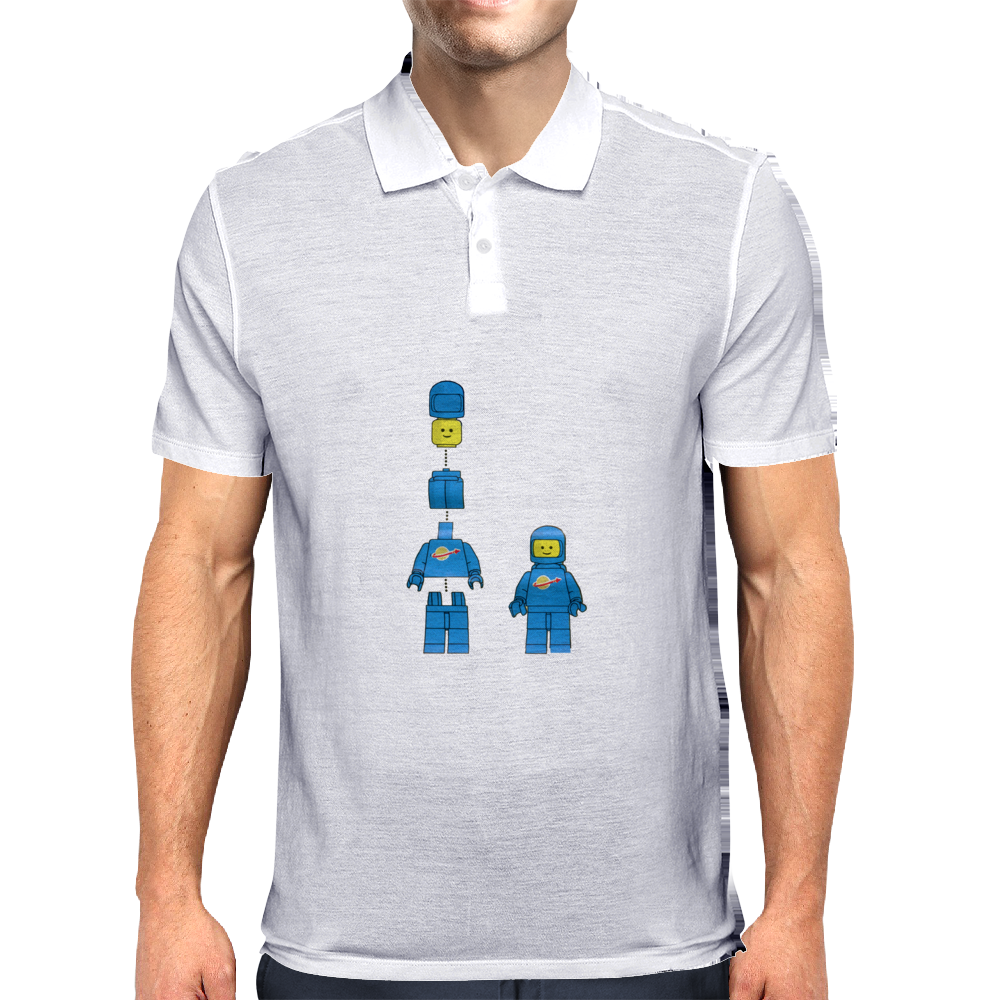 Buildling Benny the blue spaceman Mens Polo