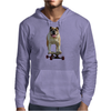 Bulldog on Longboard skate - Chief is on Board Mens Hoodie