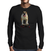 Bulldog on Longboard skate - Chief is on Board Mens Long Sleeve T-Shirt