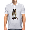 Bulldog on Longboard skate - Chief is on Board Mens Polo