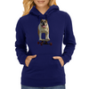 Bulldog on Longboard skate - Chief is on Board Womens Hoodie