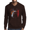 Bulldog Puppy Dog Big Mens Hoodie