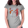 Bulldog Puppy Dog Big Womens Fitted T-Shirt