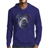 Bulldog Wearing Bandana Cool Dog Puppy Animal Lovers Mens Hoodie