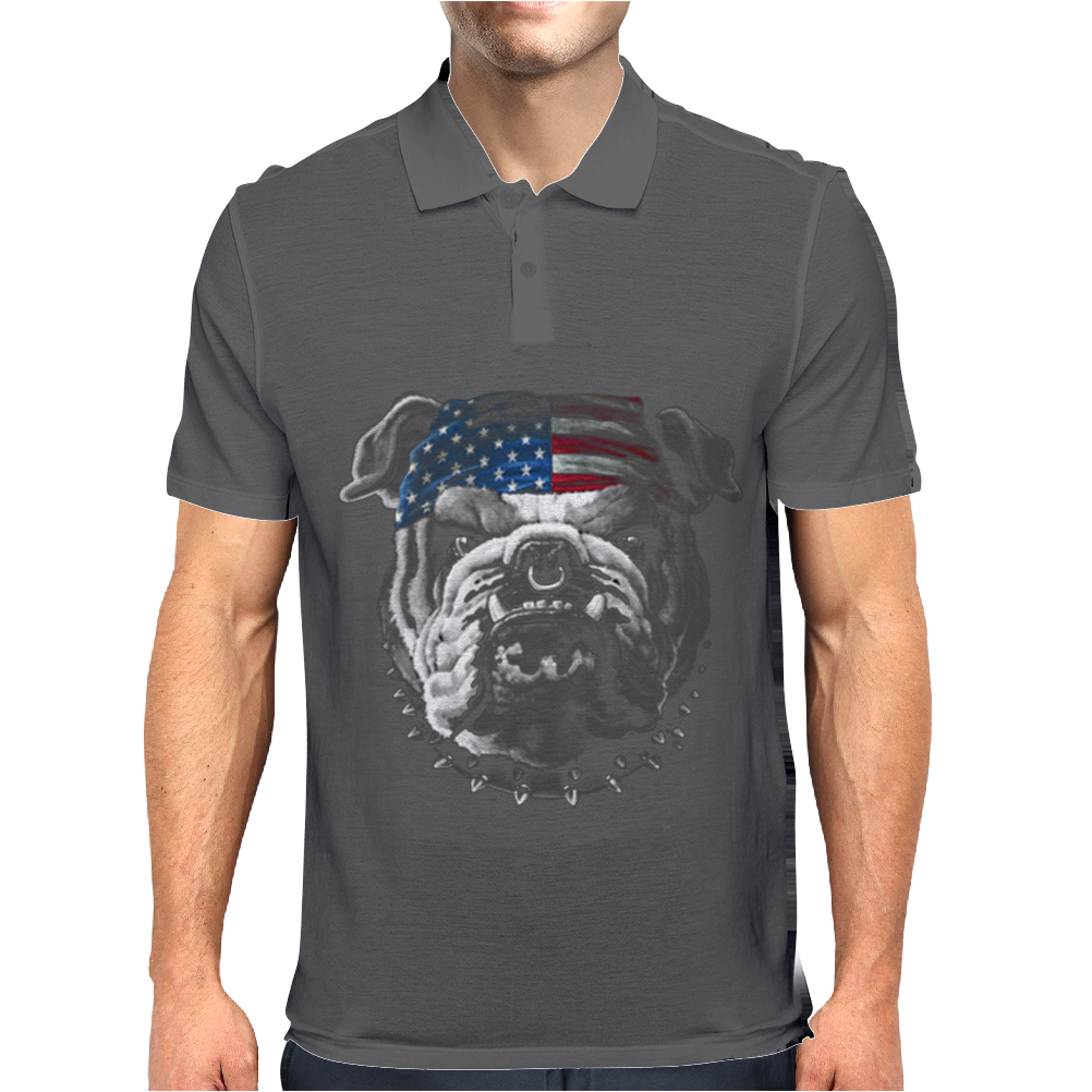Bulldog Wearing Bandana Cool Dog Puppy Animal Lovers Mens Polo