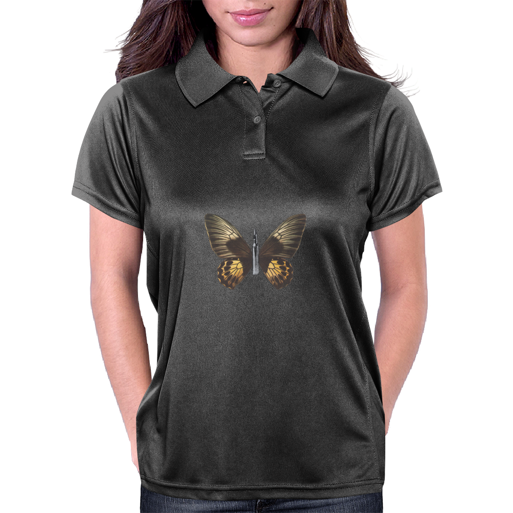 Bullet With Butterfly Wings Womens Polo