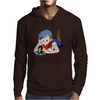 Bulma and Chibi Vegeta Mens Hoodie