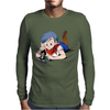 Bulma and Chibi Vegeta Mens Long Sleeve T-Shirt