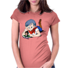 Bulma and Chibi Vegeta Womens Fitted T-Shirt