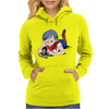 Bulma and Chibi Vegeta Womens Hoodie