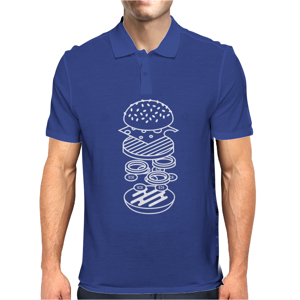 burger T-Shirt Mens Polo