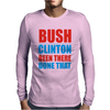 Bush Clinton Large Mens Long Sleeve T-Shirt