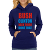 Bush Clinton Large Womens Hoodie