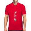 Business Man with Head Exploding into Triang Mens Polo