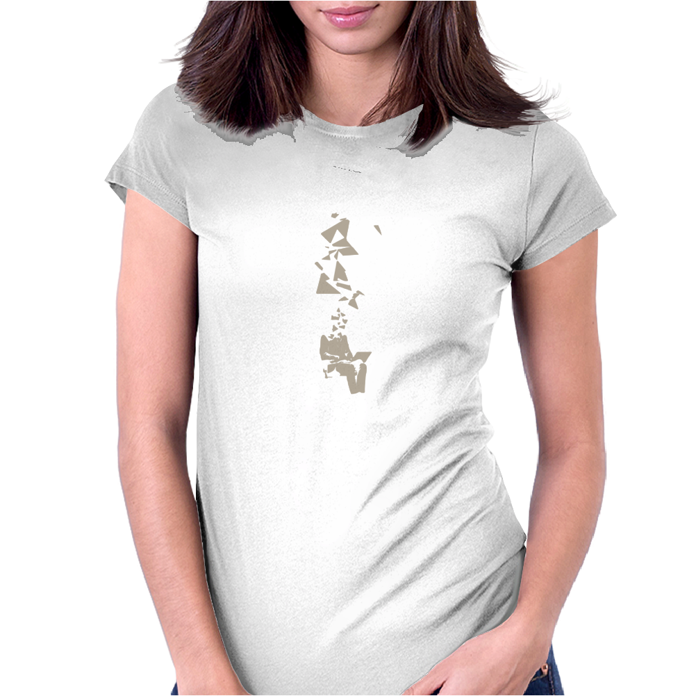 Business Man with Head Exploding into Triang Womens Fitted T-Shirt