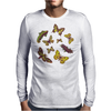 Butterflies Pattern Mens Long Sleeve T-Shirt