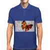 Butterfly grunge Mens Polo