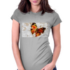 Butterfly grunge Womens Fitted T-Shirt