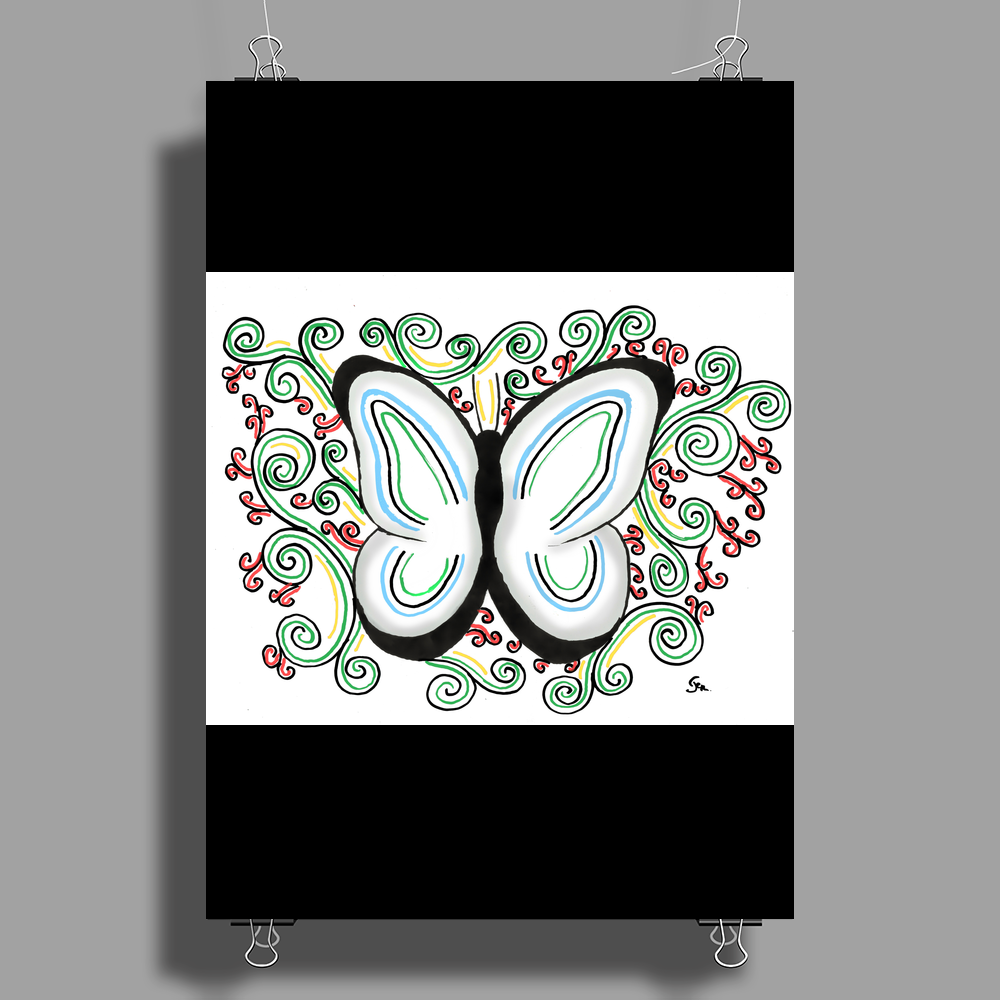 Butterfly Poster Print (Portrait)