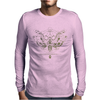 butterfly skull Mens Long Sleeve T-Shirt