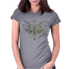 butterfly skull Womens Fitted T-Shirt