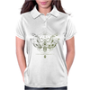butterfly skull Womens Polo