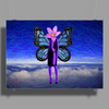 ButterFly Woman Poster Print (Landscape)