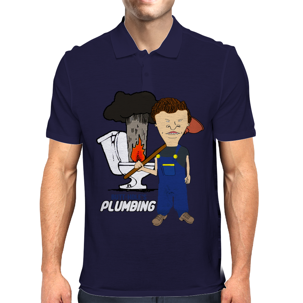 Butthole's Plumbing Mens Polo