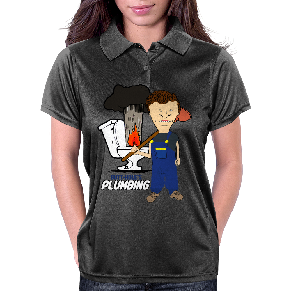 Butthole's Plumbing Womens Polo