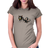 Buuu Moonlight Monster fox Womens Fitted T-Shirt