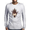 Buuu Moonlight Monster gallina Mens Long Sleeve T-Shirt