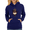 Buuu Moonlight Monster gallina Womens Hoodie