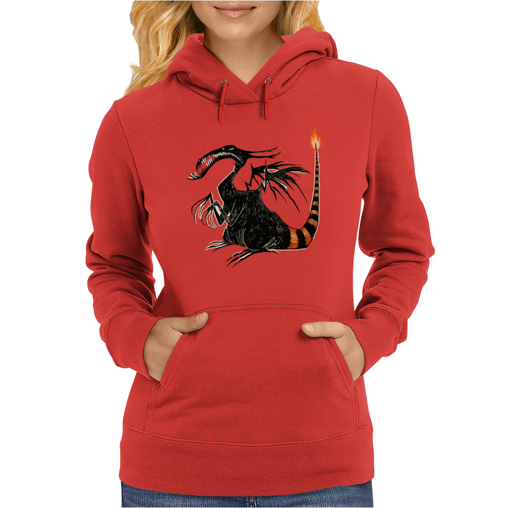 Buuuu Moonlight Monster Dragon Womens Hoodie