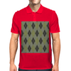 Cactus Garden Argyle 1 Tiled Mens Polo
