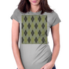 Cactus Garden Argyle 1 Tiled Womens Fitted T-Shirt